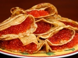 Food_Bread_rolls_croissants_Pancakes_with_red_caviar_026154_